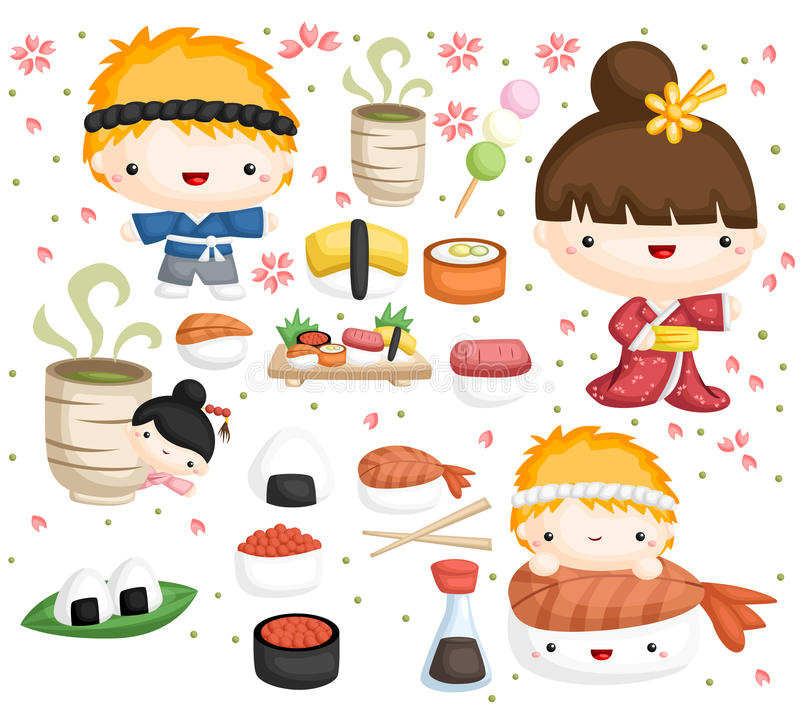 Sushi vector set stock illustration