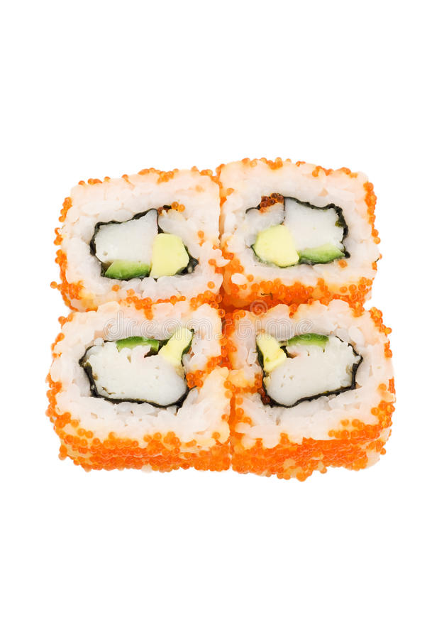 Free Sushi With Avocado And Caviar Royalty Free Stock Images - 10635629