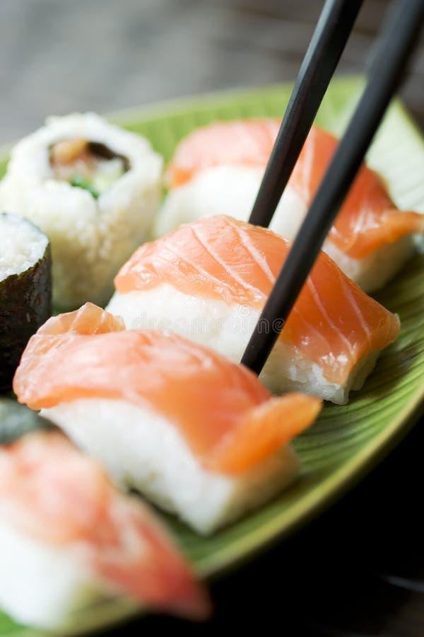 Sushi y maki foto de archivo