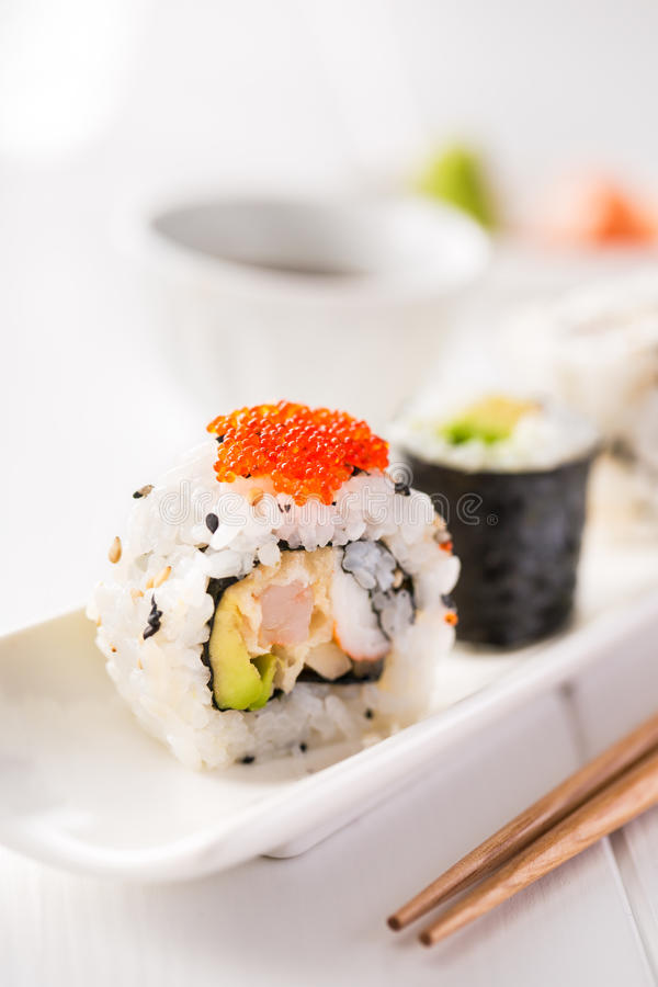 Sushi y motivo imagen de archivo