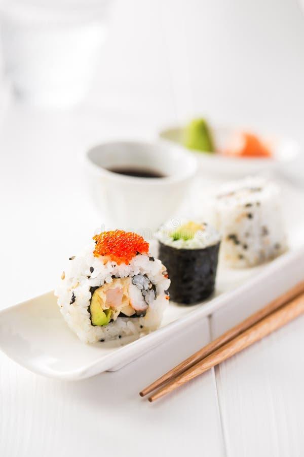 Sushi y motivo foto de archivo libre de regalías