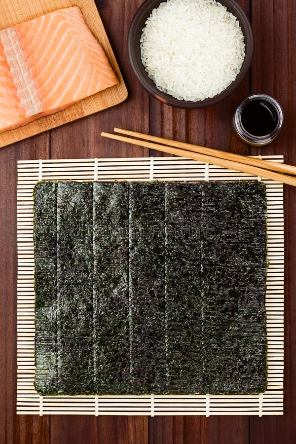 Sushibestandteile lizenzfreie stockbilder