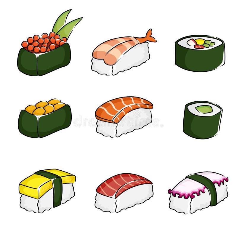 Sushiikonen lizenzfreie abbildung