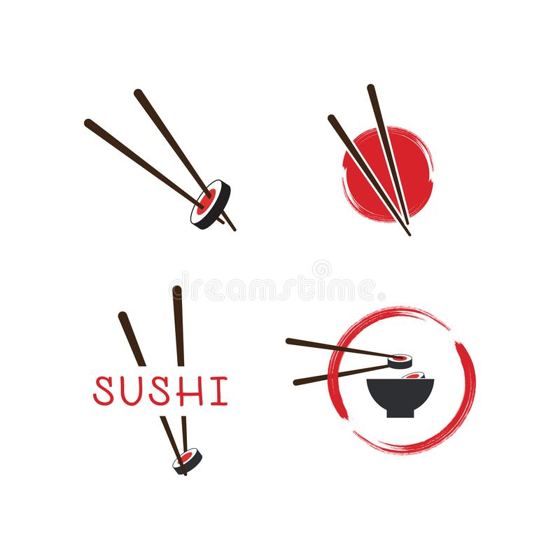 Sushilogomall royaltyfri illustrationer