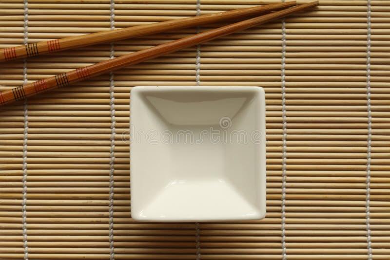 Sushimatte mit Bad stockfoto