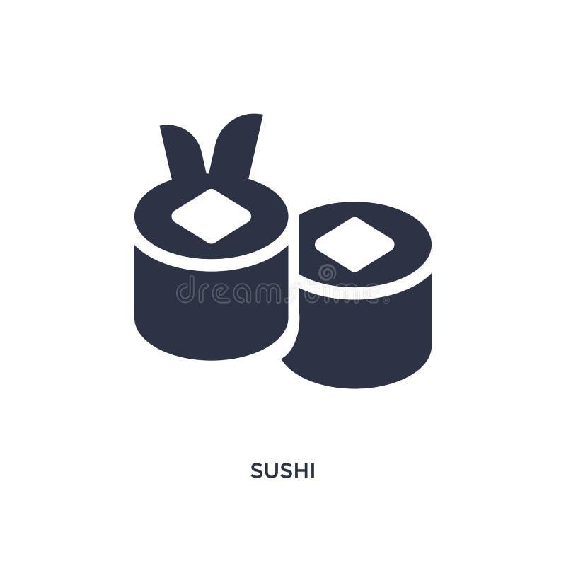 Sushipictogram op witte achtergrond Eenvoudige elementenillustratie van snel voedselconcept vector illustratie