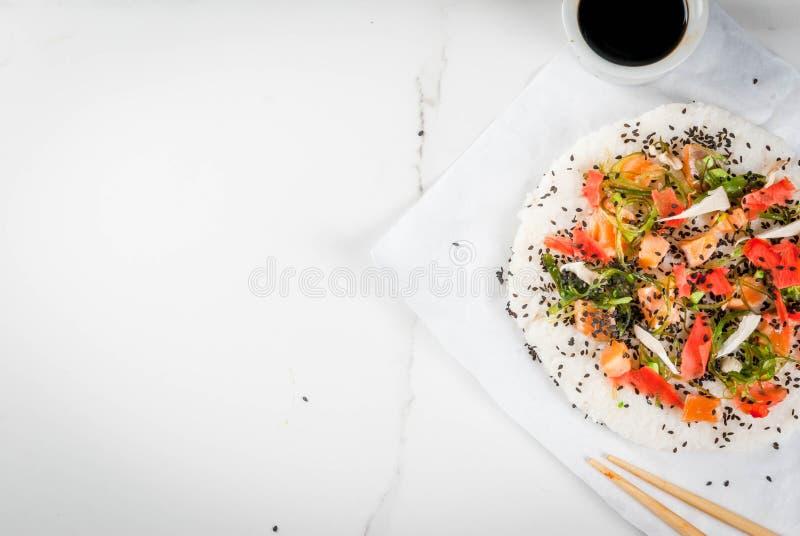 Sushipizza stock foto's
