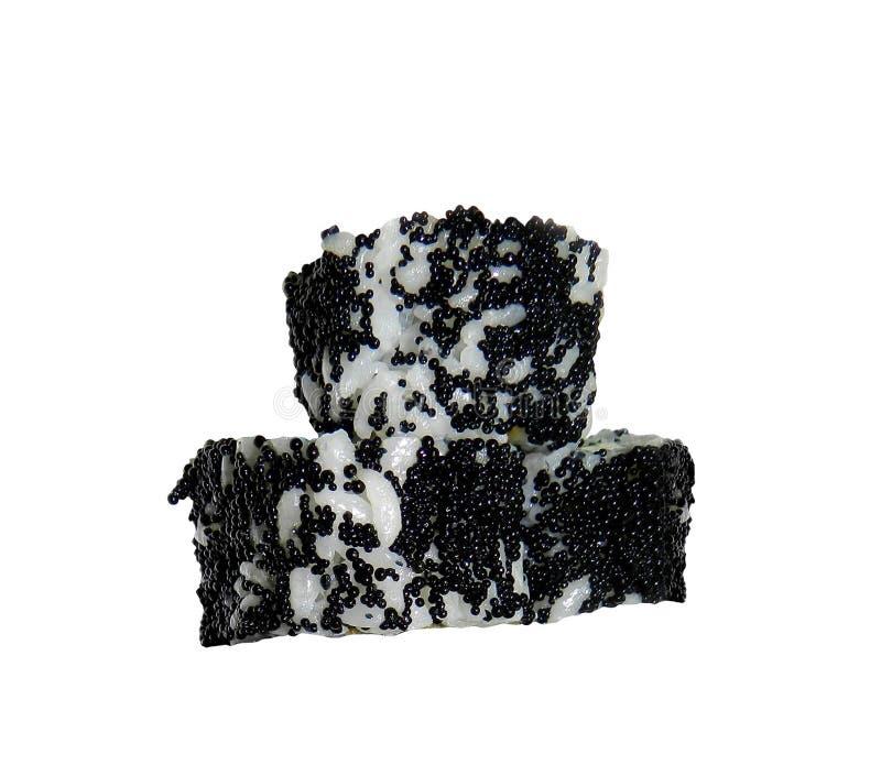 Sushirullar på vit arkivbild