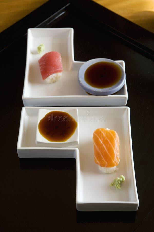 sushis łososiowy tuńczyk zdjęcia stock