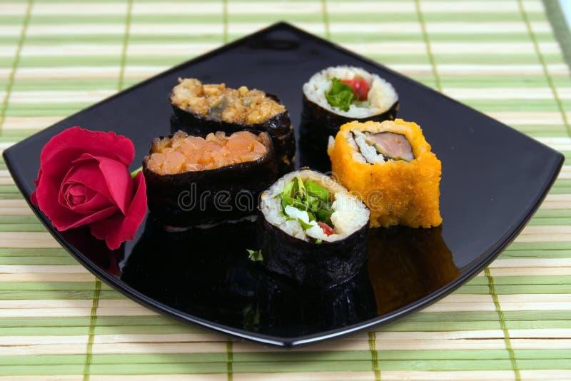 susi ρόλων πιάτων στοκ φωτογραφίες με δικαίωμα ελεύθερης χρήσης