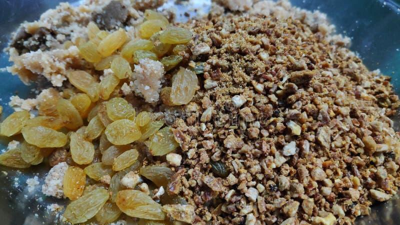 Susi owocowi laddu składniki zdjęcie stock