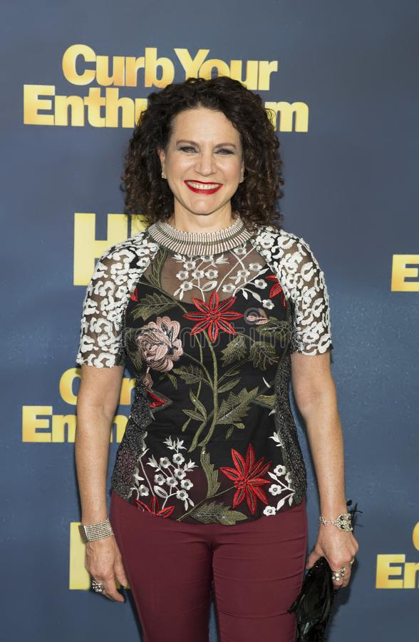 Susie Essman. Comedic actress Susie Essman arrives for the NYC premiere of the 9th season of HBO`s hit comedy, `Curb Your Enthusiasm.` Larry David plays a royalty free stock photo