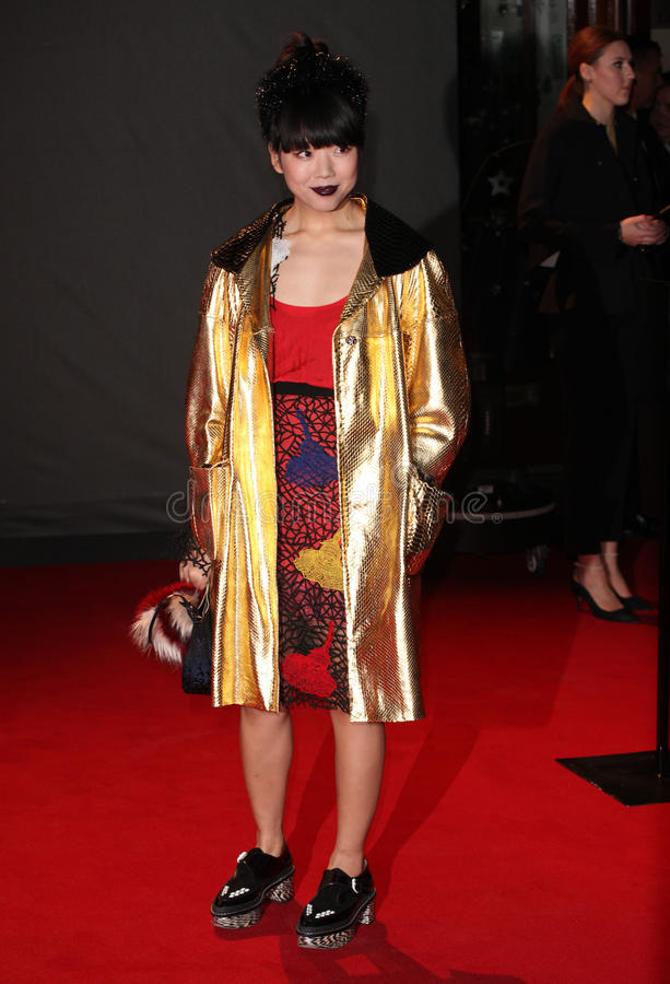 Susie Lau. Arriving for the 2013 British Fashion Awards, at The London Coliseum, London. 02/12/2013 Picture by: Alexandra Glen / Featureflash royalty free stock photos