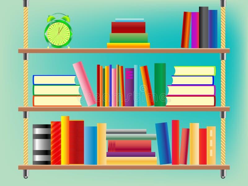 Suspended bookshelf. Abstract vector art illustration vector illustration