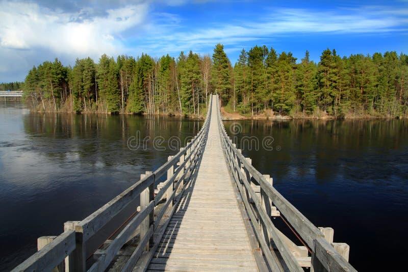 Suspended bridge stock photo