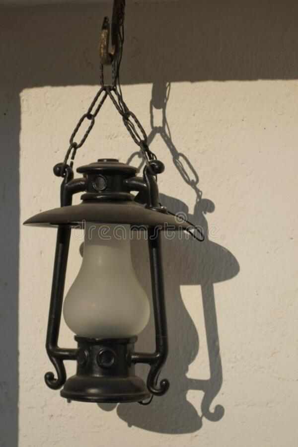 suspended-electrical-outdoor-lamp stock image