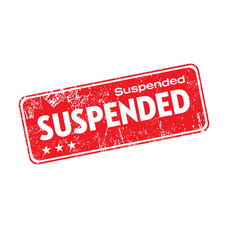 Suspended grunge rubber stamp stock image