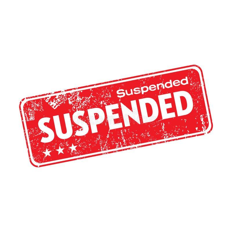 Suspended grunge rubber stamp royalty free illustration