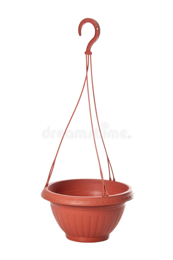 Download Suspended Plastic Flowerpot For Plants Stock Photography - Image: 20983022