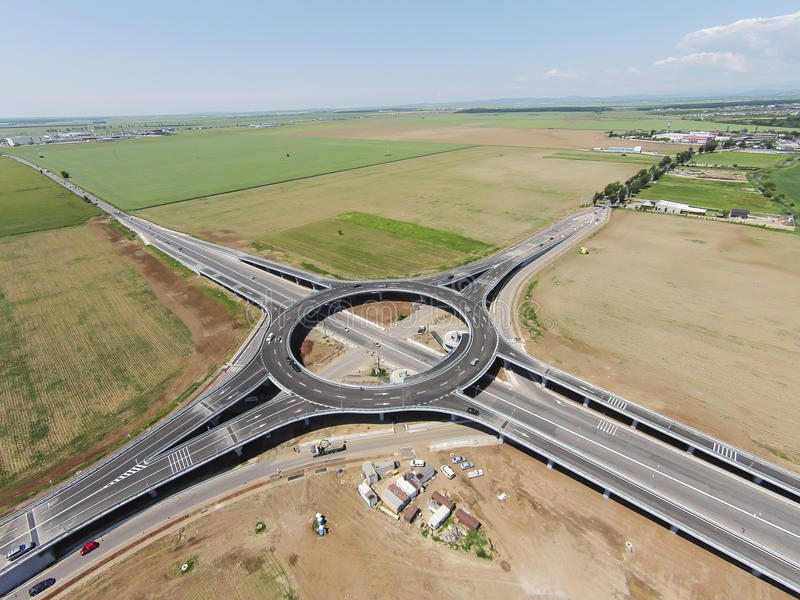Suspended roundabout, aerial view royalty free stock image