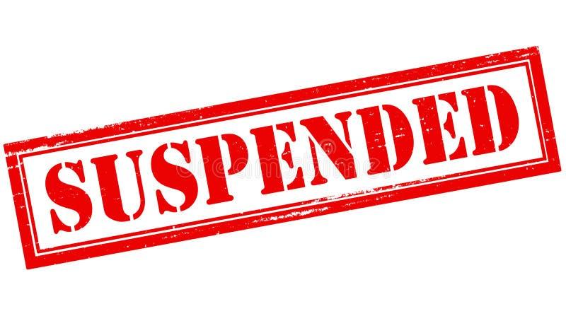 suspendu illustration libre de droits