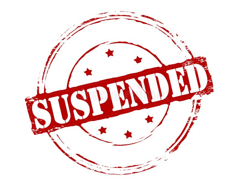 suspendu illustration stock