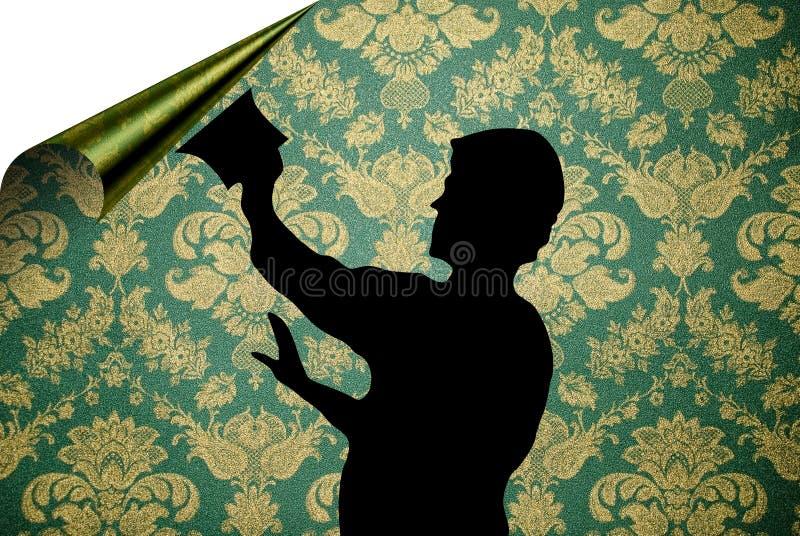 Suspensão acima do papel de parede ilustração stock