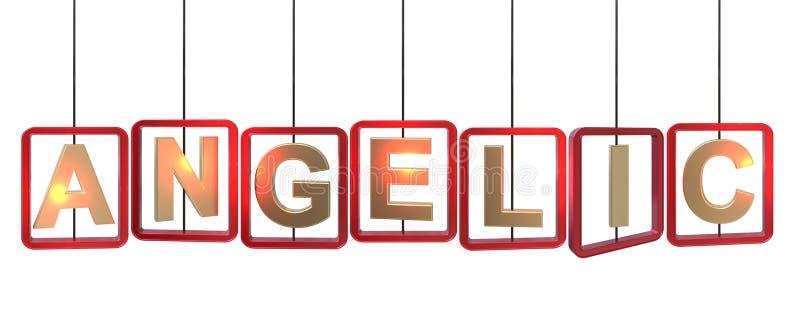 Suspensão angélico das letras ilustração stock