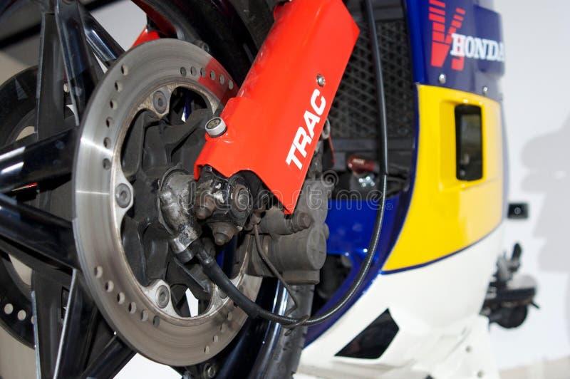 Suspensão da parte dianteira de Honda ns400r fotos de stock