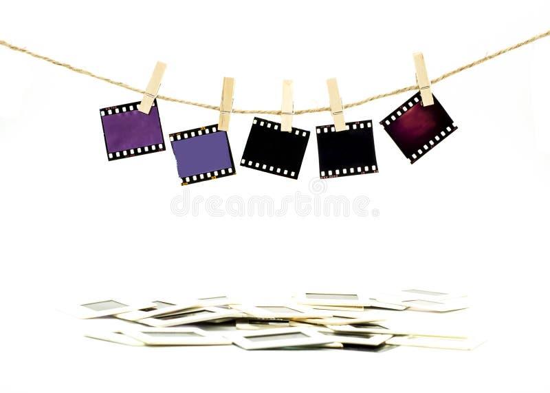 Suspensão da película de cor fotos de stock