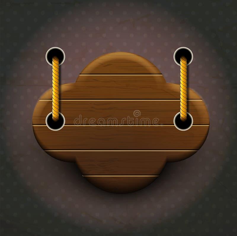 Suspensão de madeira do sinal do vintage ilustração stock