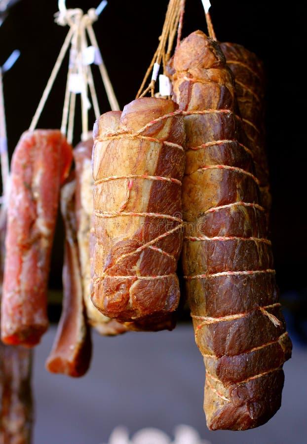 Suspensão fumado da carne foto de stock royalty free