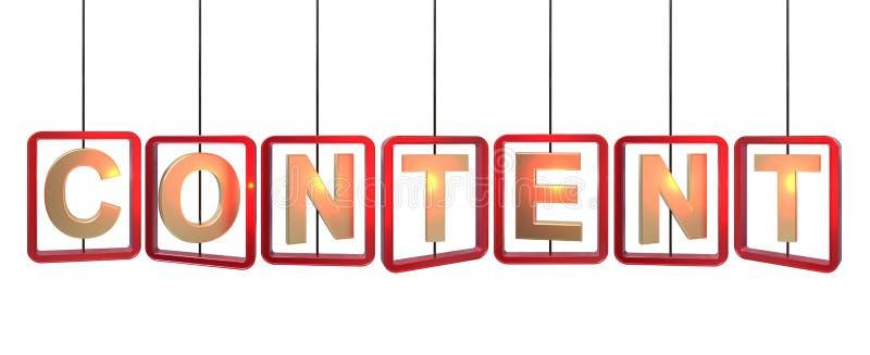 Suspensão satisfeita das letras ilustração stock