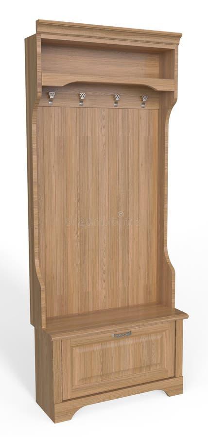 Suspensión de madera del vestíbulo stock de ilustración