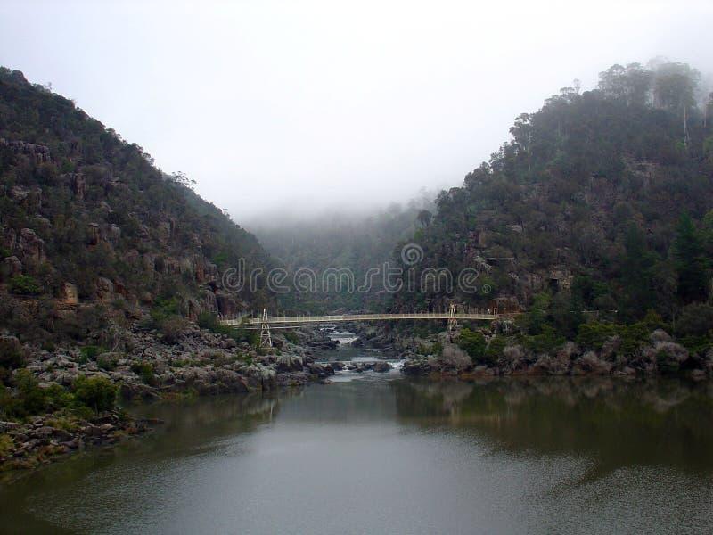 Suspension Bridge in Cataract Gorge stock images