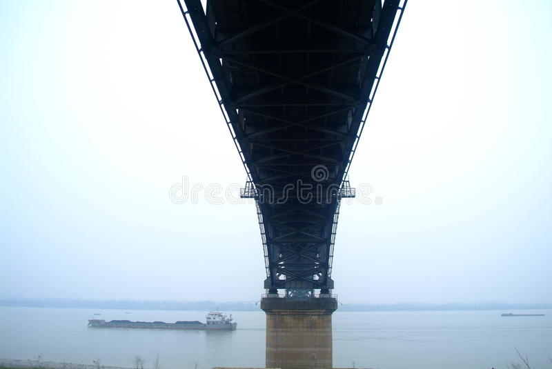 Download Suspension bridge stock image. Image of jiujiang, fine - 30990289