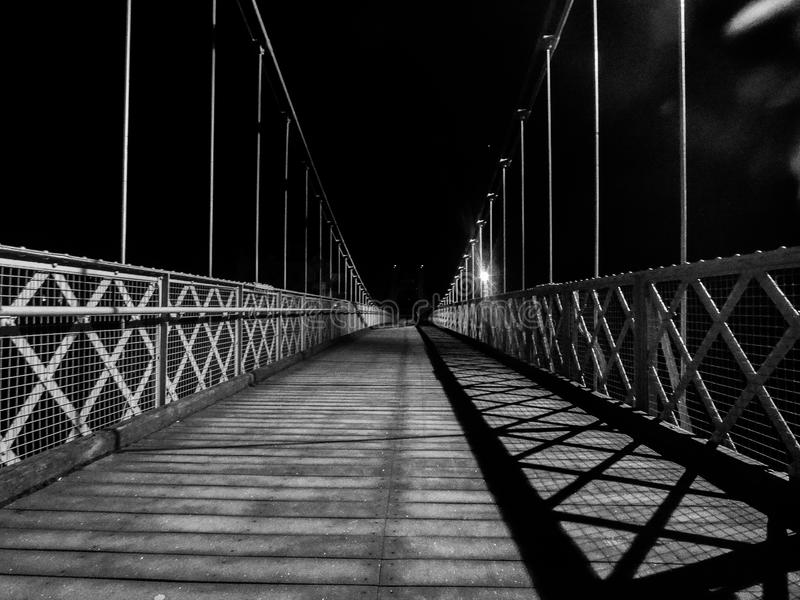 Suspension Bridge in Chester UK royalty free stock photo