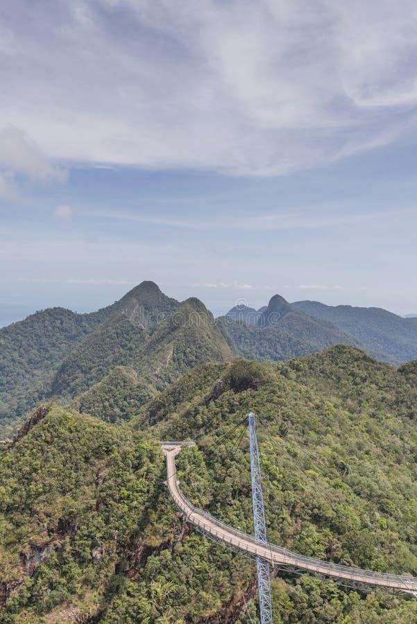 Suspension bridge, Gunung Machinchang, Langkawi stock image