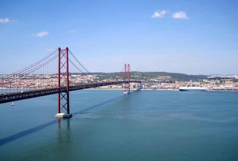 Download Suspension Bridge In Lisbon, Portugal Stock Photo - Image: 15998522