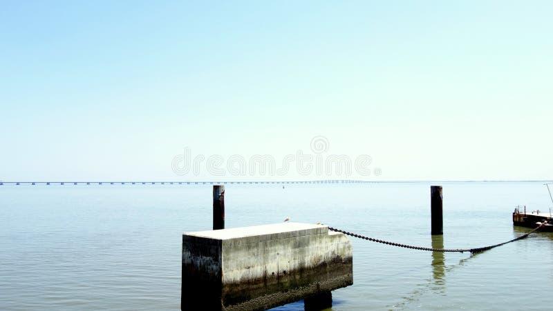 Suspension bridge in Lisbon stock photo