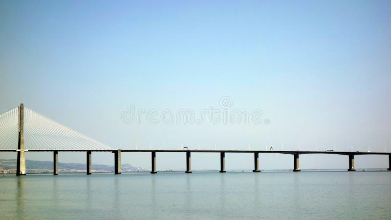 Suspension bridge in Lisbon royalty free stock photo