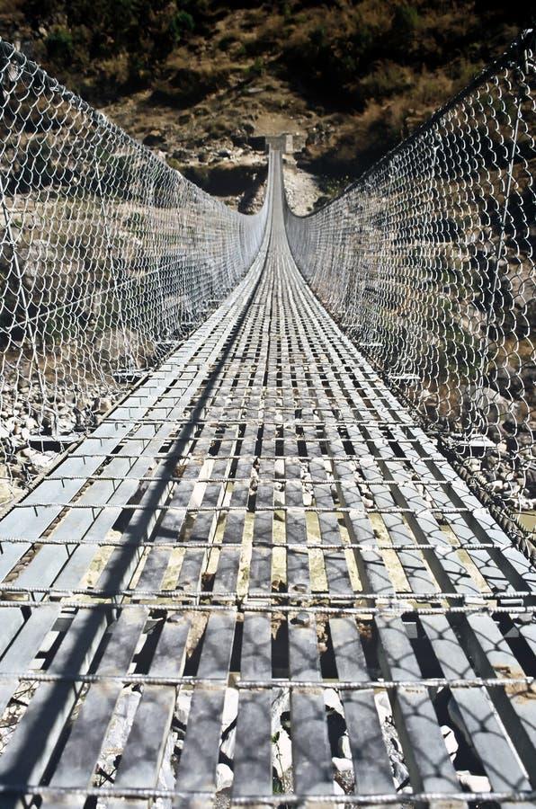 Download Suspension Bridge, Nepal stock image. Image of amazing - 15394943
