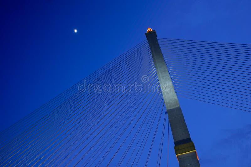 Download Suspension Bridge At Night stock photo. Image of lighting - 34358680