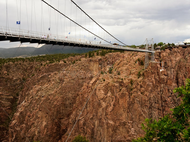 Download Suspension Bridge. Stormy Sky. Royalty Free Stock Photos - Image: 26534208