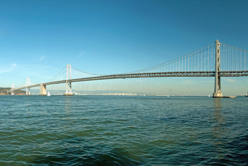 Suspension Oakland Bay Bridge In San Francisco Stock Photo ...