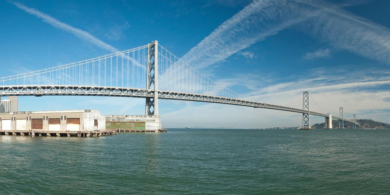 Download Suspension Oakland Bay Bridge In San Francisco Stock Image - Image: 22553017