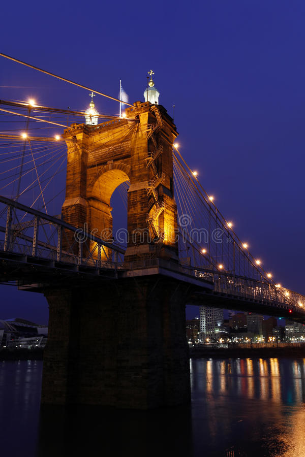 suspension roebling de John de passerelle photos stock