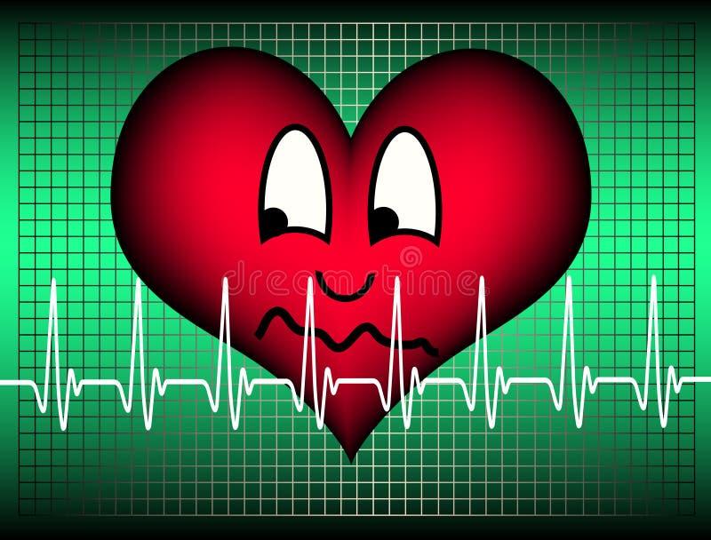 Suspicious heart stock photography