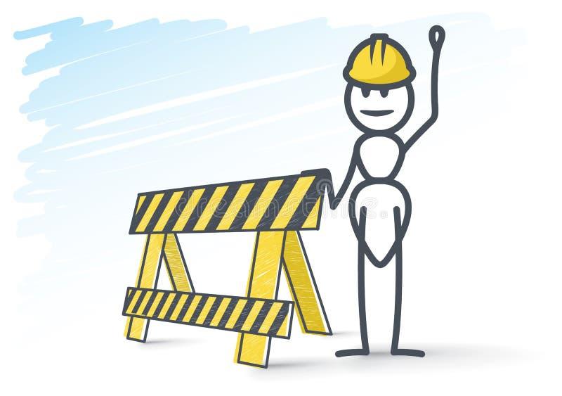 Suspiro da formiga e da construção ilustração stock