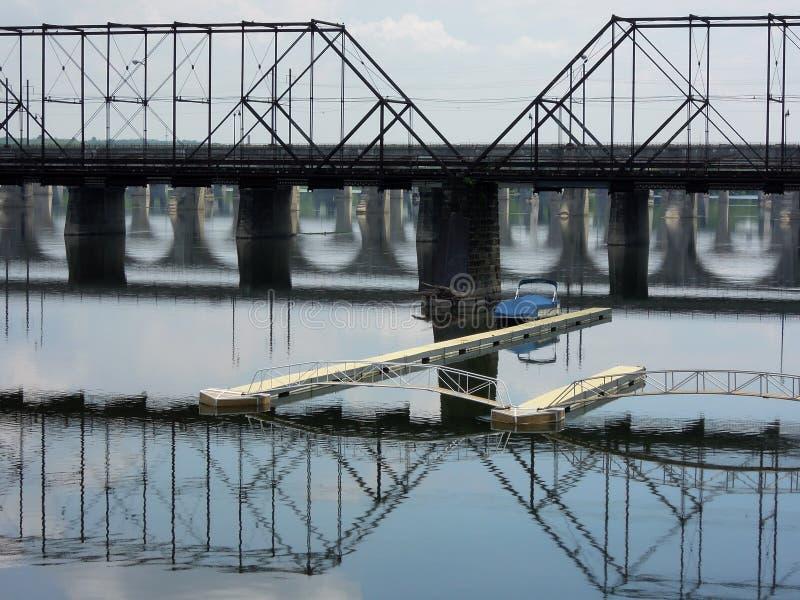 The Susquehanna bridges royalty free stock photography